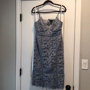 Baby blue lacy dress
